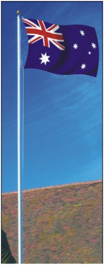 Flag Pole, ext halyard 5.3m