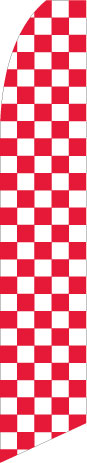 Quantum Flag Red and White Check