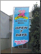 Custom printed Super Seller flag for Redland Bay Quality Meats